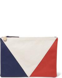Pochette blanc et rouge et bleu marine
