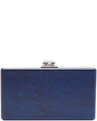 Pochette bleu marine Edie Parker