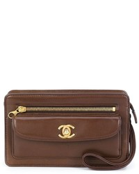 Pochette brune Chanel