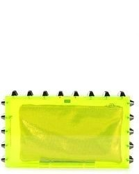 Pochette chartreuse Charlotte Olympia