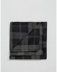 Pochette de costume à carreaux noire