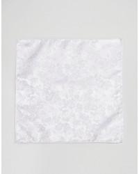 Pochette de costume à fleurs blanche Asos