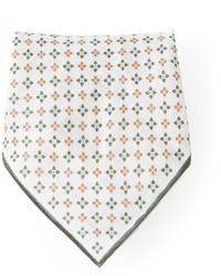 Pochette de costume à fleurs blanche Brunello Cucinelli