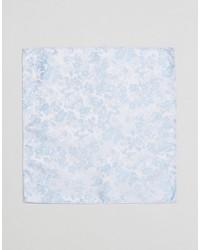 Pochette de costume à fleurs bleu clair Asos