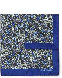 Pochette de costume à fleurs bleu marine Paul Smith