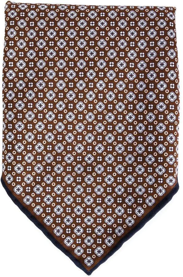 Pochette de costume à fleurs bordeaux Brunello Cucinelli