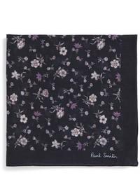 Pochette de costume à fleurs noire