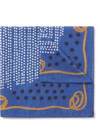 Pochette de costume á pois bleue Alex Mill