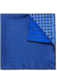Pochette de costume á pois bleue Lanvin