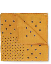 Pochette de costume á pois jaune