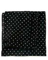 Pochette de costume á pois noire et blanche Asos