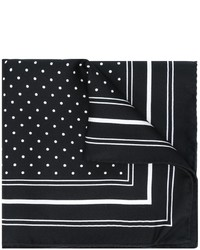 Pochette de costume á pois noire et blanche Dolce & Gabbana