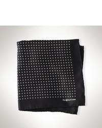 Pochette de costume á pois noire