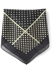 Pochette de costume á pois noire Saint Laurent