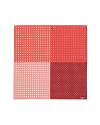 Pochette de costume á pois rouge et blanc