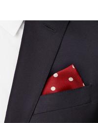 Pochette de costume á pois rouge et blanc Drakes