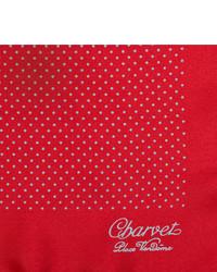 Pochette de costume á pois rouge et blanc Charvet
