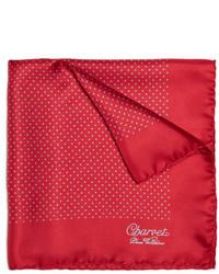 Pochette de costume á pois rouge