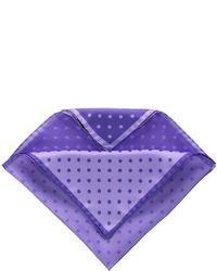Pochette de costume á pois violette