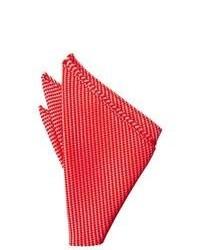 Pochette de costume à rayures horizontales rouge