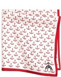 Pochette de costume blanc et rouge