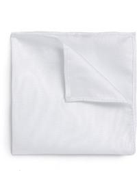 Pochette de costume blanche