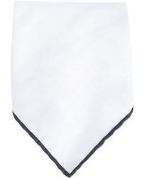 Pochette de costume blanche Brunello Cucinelli