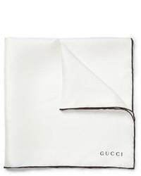 Pochette de costume blanche Gucci