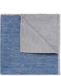 Pochette de costume bleue Brunello Cucinelli