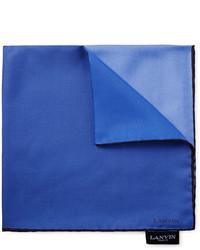 Pochette de costume bleue Lanvin