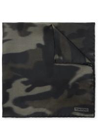 Pochette de costume camouflage olive Tom Ford