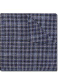 Pochette de costume écossaise bleu marine Oliver Spencer