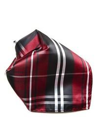 Pochette de costume écossaise bordeaux