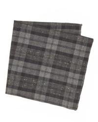Pochette de costume écossaise gris foncé