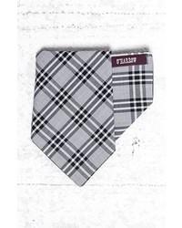 Pochette de costume écossaise grise