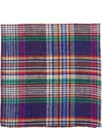 Pochette de costume écossaise multicolore