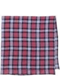 Pochette de costume écossaise rouge