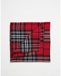 Pochette de costume écossaise rouge Asos