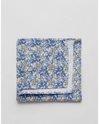 Pochette de costume en coton à fleurs bleu clair Jack and Jones