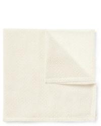 Pochette de costume en coton blanche