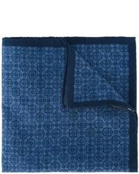 Pochette de costume en coton bleu marine Eleventy