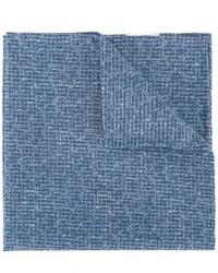 Pochette de costume en coton bleue Eleventy