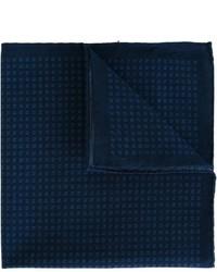 Pochette de costume en coton imprimée bleu marine Eleventy