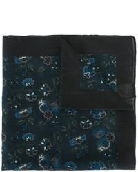 Pochette de costume en coton imprimée bleu marine Paul Smith