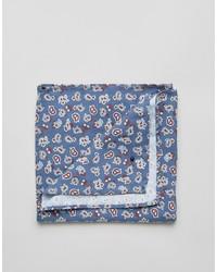 Pochette de costume en coton imprimée cachemire bleue Jack and Jones