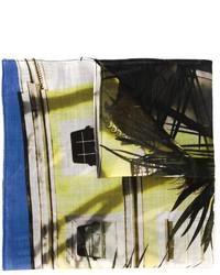 Pochette de costume en coton imprimée olive Paul Smith