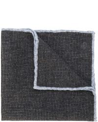 Pochette de costume en laine à carreaux marron foncé Eleventy