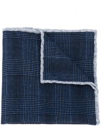 Pochette de costume en laine bleu marine Eleventy