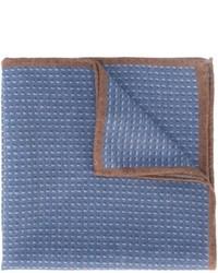 Pochette de costume en laine bleue Eleventy