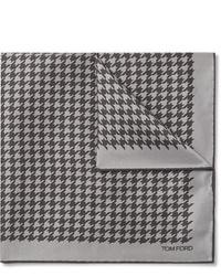 Pochette de costume en pied-de-poule grise Tom Ford